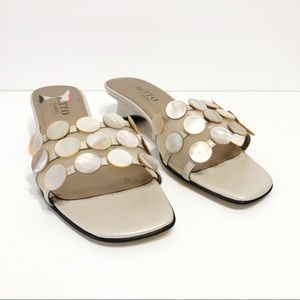 Mother of Pearl Ditto by Vaneli Slide Sandal